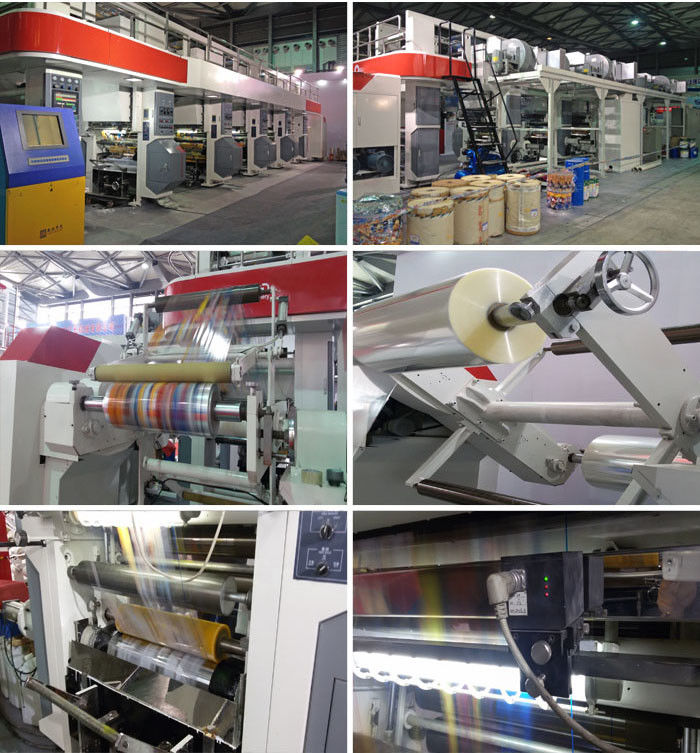 Rewinder / Unwinder Double Station Structure Rotogravure Printing Machine Specialized For PE Aluminum Foil Material